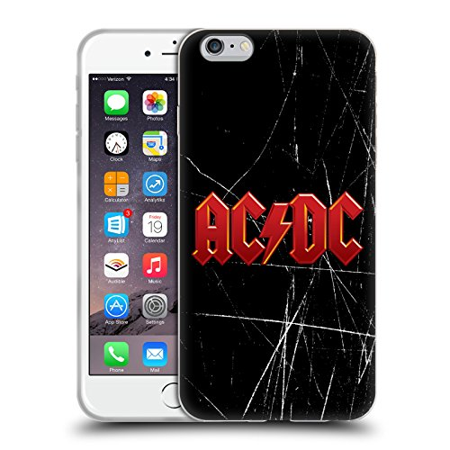 Officiel AC/DC ACDC Rouge Logo Étui Coque en Gel molle pour Apple iPhone 6 Plus / 6s Plus