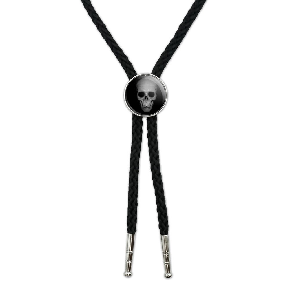 Human Skull - Front View Western Southwest Cowboy Necktie Bow Bolo Tie Graphics and More BOLOTIE.PL.0532