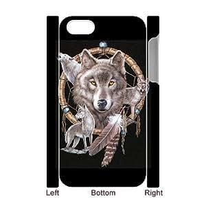 3D Bumper Plastic Case Of Wolf Dream Catcher customized case For Iphone 4/4s
