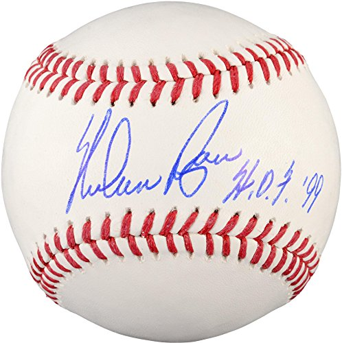 Rangers Numbers Ryan Texas Nolan (Steiner Sports MLB Texas Rangers Nolan Ryan Signed Baseball With HOF Inscription)