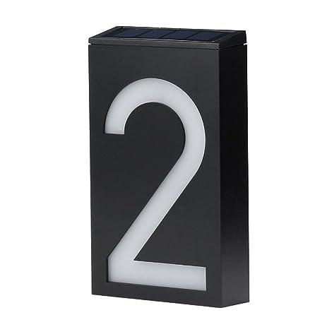 Marvelous Niceshop Solar Door Numbers Solar Digital Door Light Solar Powered Door  Plate House Number Sign 6 LED ...