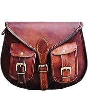 Satchel And Fable Leather Purse Cross body Shoulder Women Handbag I pad Bag