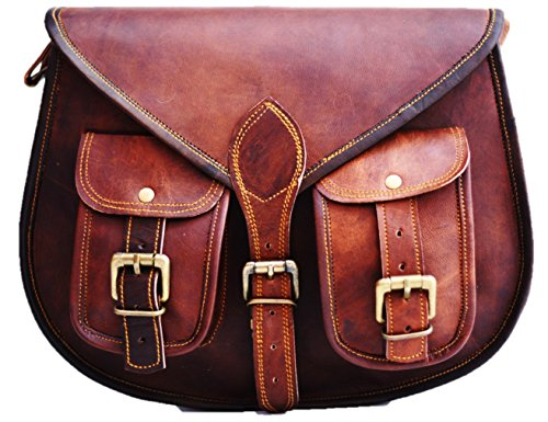 S&F Leather Purse Designer Crossbody Shoulder Bag Travel Satchel Women Handbag Ipad Bag by SatchelandFable