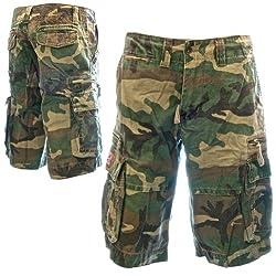 Mens Sizeups Cargo Shorts - 100% Premium Quality Tough Cotton Larger Plus-Sizes, 42