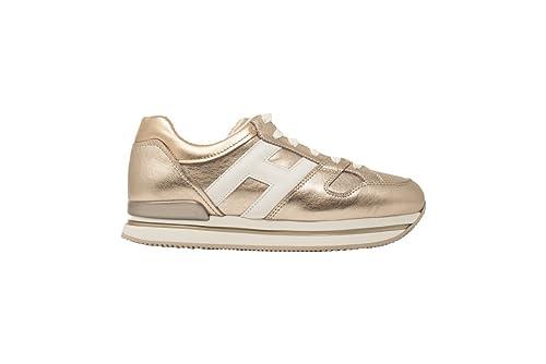 HOGAN Scarpe Donna H222 HXW2220T548I8G089A Sneaker Pelle Cipria H Bianco