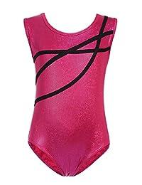 Arshiner Girls One-piece Suit Solid Dance Gymnastics Leotard