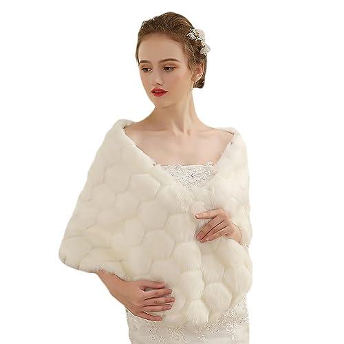 Insun Mujer Chaqueta de Vestido Capas Poncho de Vestido Abrigo Bolero Invierno Chal Estola