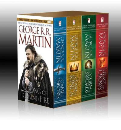 Song of Ice & Fire 4 Volume Boxed Set: A Game of Thrones, a Clash of Kings, a Storm of Swords, and a Feast for Crows (A Song of Ice and Fire) (Paperback) - Common ()