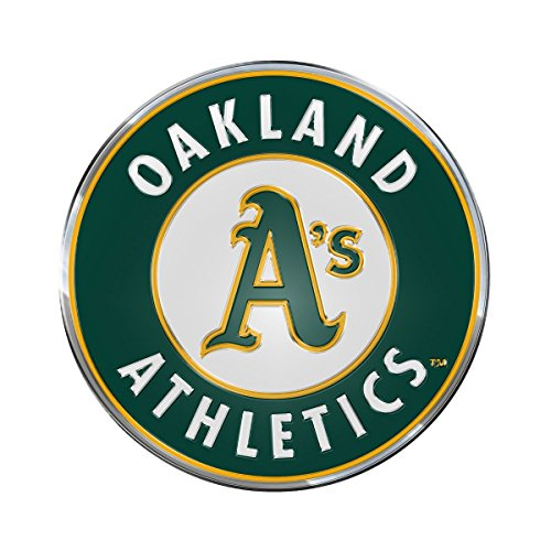 (Team ProMark MLB Oakland Athletics Aluminum Color Emblem, 3.25