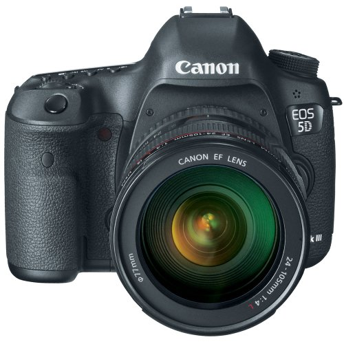 Canon EOS 5D Mark III 22.3 MP Full Frame CMOS Digital SLR Camera with EF 24-105mm f/4 L IS USM - Camera Slr 5d