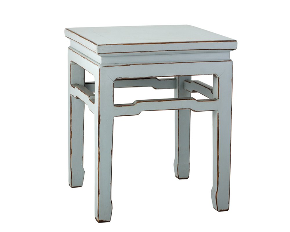 Antique Revival Ch004D AQU Vintage Style Chinese Distressed Stand, Aqua