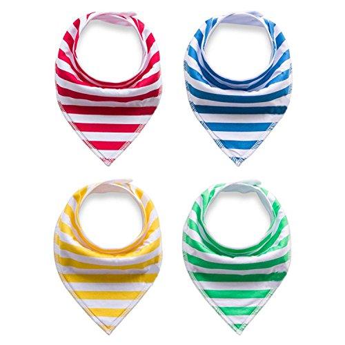 Olive Tayl 4Pcs/Lot Baby Cotton Bibs Kids Cute Printing Soft Bandana Newborn Toddler Triangle Scarf Infant Burp Cloths Saliva Towel