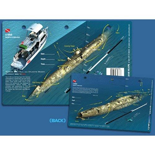 U-352 Dive Site in North Carolina Waterproof 3D Dive Site Card