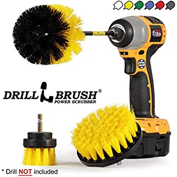 Drill Brush Power Scrubber Brush Set - Drill Brush Kit with Extension - Drill Brushes for Cleaning Bathroom Accessories - Drill Brush Attachment - Bathroom Cleaner - Grout Cleaner - Drill Scrub Brush