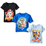 Nickelodeon Little Boys' Paw Patrol Toddler Boys T-Shirt 3-Pack, Assorted, 4T
