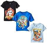 Nickelodeon Paw Patrol - Juego de tres camisetas para niño, Black/Royal/Light Blue, 2 Años