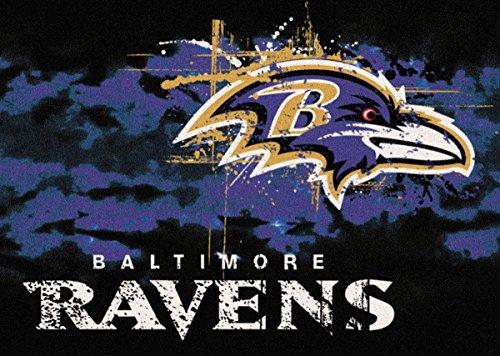 Nfl Football Team Area Rug (Baltimore Ravens NFL Team Fade Area Rug by Milliken, 3'10