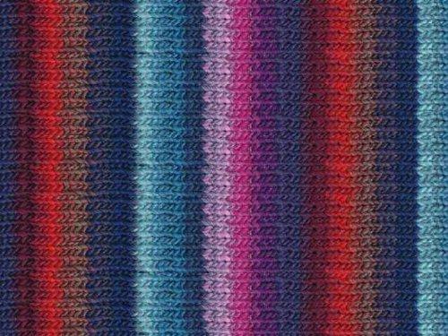 Noro Kureyon, 277 - Navy-Aqua-Lavender-Red-Wine (Yard 110 Yarn)