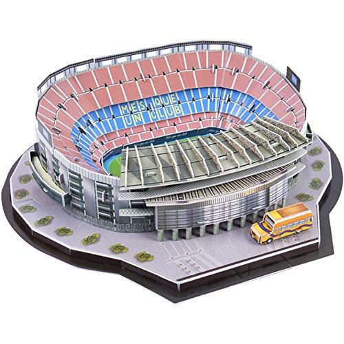 EP-model Modello 3D Sports Stadium, Bassano Camp Stadium Modello Souvenir DIY Puzzle, 3 Pezzi Set, 17'x 14' x 5'