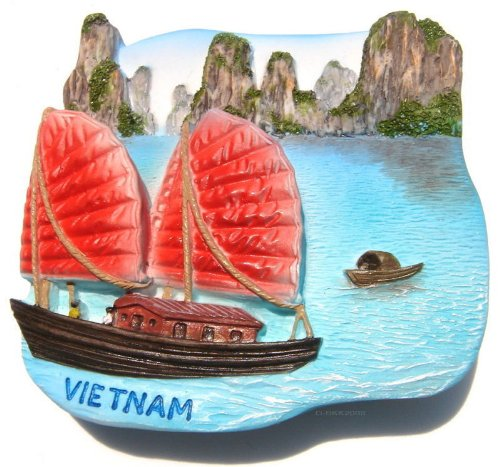 Halong Bay Hanoi Vietnam High Quality Resin 3d Fridge Magnet Thailand WSM-81-9