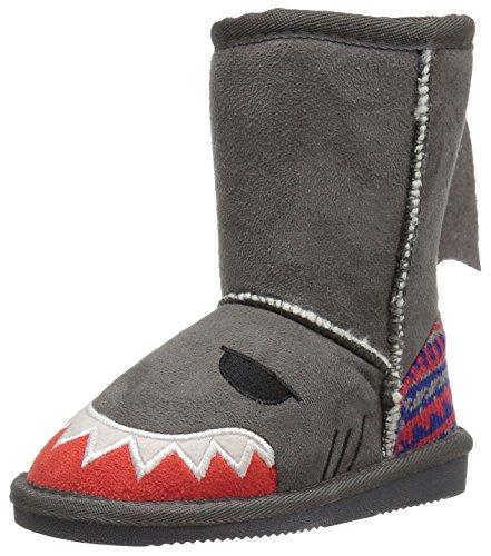 Price comparison product image Muk Luks Boy's MUK LUKS Kid's Finn Shark Boots Boot,  Grey,  10 M US Little Kid