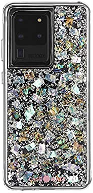 Case-Mate - Samsung Galaxy S20 Ultra Case - KARAT - Real Mother of Pearl & Silver Elements - Mother of P