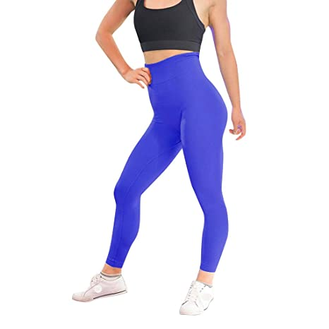 Women High Waist Yoga Pants Tummy Control Workout Shorts Side Pockets Pants Clothing & Accessories Pants GoodLock Clearance!