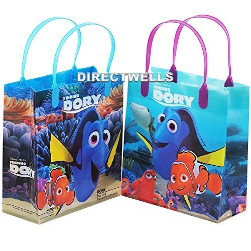 Finding Dory 12 Authentic Licensed Party Favor Reusable Medium Goodie Gift Bags -