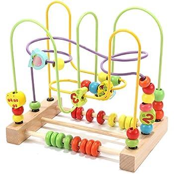 Amazon.com: Wondertoys Preschool Fruit Bead Maze Roller ...