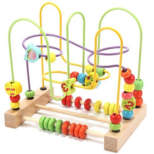 - Wondertoys Preschool Fruit Bead Maze Roller Coaster Educational Toys for 1 2 3 Years Old Boys Girls