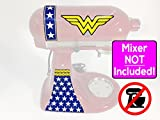 Wonder Woman Classic logo vinyl wrap sticker kit for KitchenAid stand mixers NO MIXER INCLUDED - Decals ONLY - SD0010