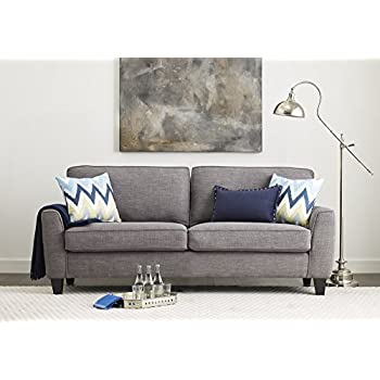 "Serta Deep Seating Astoria 73"" Sofa in Concord Light Gray"
