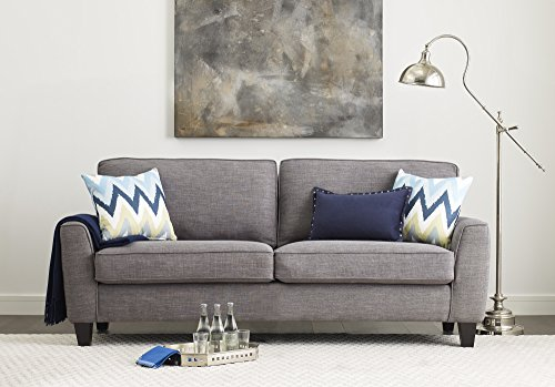 "Serta Deep Seating Astoria 78"" Sofa in Concord Light Gray"