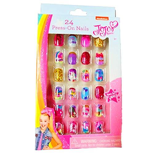 JoJo Siwa 24 Press-On Nails for Girls