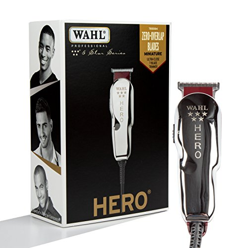 (Wahl Professional 5-Star Hero Corded T Blade Trimmer #8991 - Great for Barbers and Stylists - Powerful Standard Electromagnetic Motor - Includes 3 Guides, Oil, and Cleaning Brush)