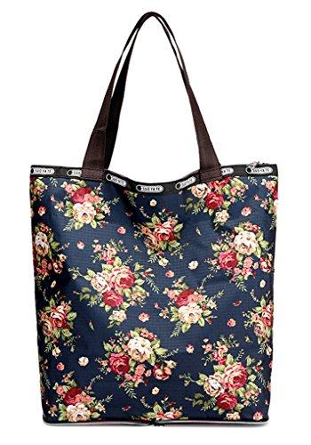 Nawoshow Women Floral Satchel Shoulder Bag Handbags Water-resistant  Shopping Tote Bags (Rose Multifloral fb07b85c0f1f1