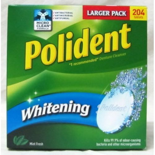 Polident Whitening Denture Cleanser Tablets - 204 tablets (Econo Pack)