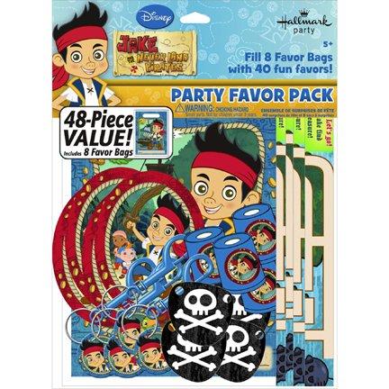 Hallmark Jake & The Never Land Pirates 48pc Favor Kit (1ct) -