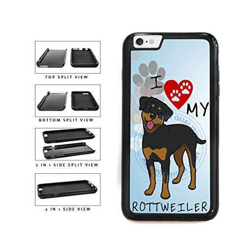 BleuReign I Love My Rottweiler Dog Lover 2-Piece Dual Layer