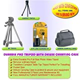 EXTRA DURABLE TRIPOD & DELUXE CASE FOR KONICA MINOLTA DIMAGE 2300 2330 5 7 7Hi 7i E201 E203 E223 E323 E500 EX1500 F100 F200 F300 RD3000 S304 S404 S414 X20 X21 X31 Z1 Z6