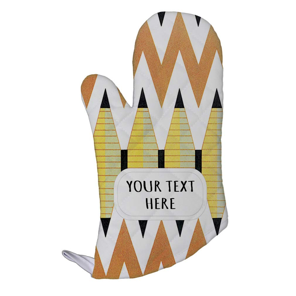 Style In Print Polyester Oven Mitt Custom Egyptian Design 15 Pattern Brown White Adults Kitchen Mittens