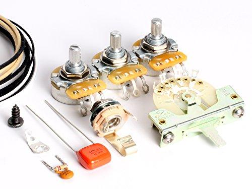 - ToneShaper Guitar Wiring Kit, For Fender Stratocaster, SSS1 (Blender Wiring)
