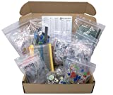 XL Electronic Component Kit Assortment, Capacitors, Resistors, LED, Transistors, Diodes, Zener, Potentiometers, 1650 pcs