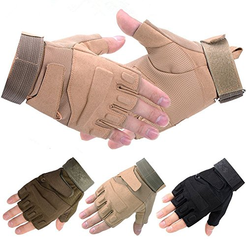 Outdoors Boys/Girls Lightweight Deer/Birds Hunting Gloves/Mitts-Beige-M