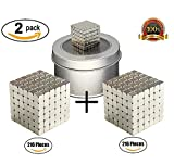 CRFX Magnetic Cube Puzzle Magnetic Holders Multi-Use Prime Fidget Toys for Adults Office Stress Relief Executive Desk Toy Magic Cool Gadget - (2x216 Pieces)(3mm)