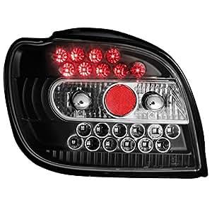 Dectane RT03LLB - Faros traseros LED para Toyota Yaris 98-05, color negro