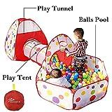 Interiores Casas Jardin niños Casas para niños con aro de Baloncesto y Bolsa de Almacenamiento con Cremallera para los niños(Bolas no está Incluidas)
