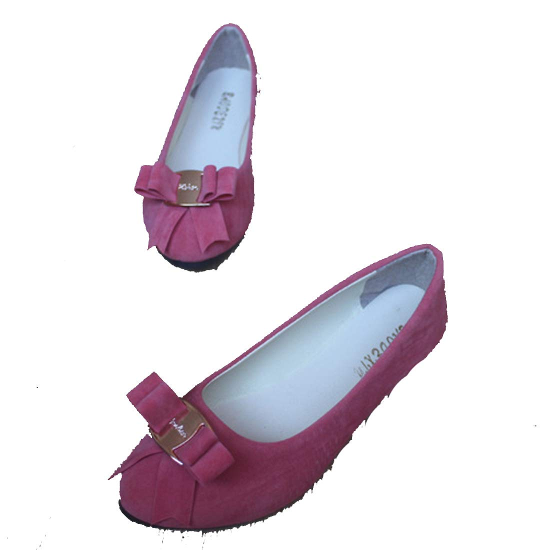 New Womens Ladies Bow Slip On Ballerina Loafers Dolly Pumps Ballet Shoes Sizes