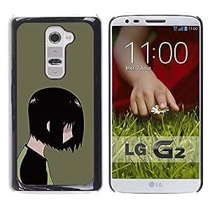 A-type Arte & diseño plástico duro Fundas Cover Cubre Hard Case Cover para LG G2 (Emo Kid)