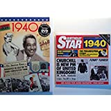 1940 Birthday Gifts Pack - 1940 DVD Film , 1940 Chart Hits CD and 1940 Birthday Card